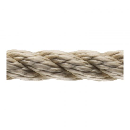 Pre-stretched Buff Polyster 3 Strand Rope
